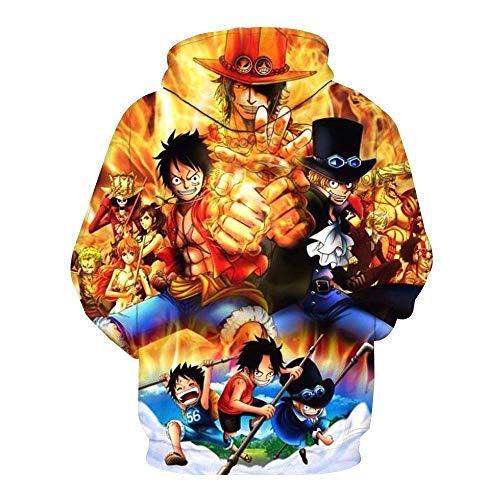 Pull Impression Piece Anime Capuche Sweatshirt Marron À Pour Femmes Hommes Et One En 3d f8gwCq8v