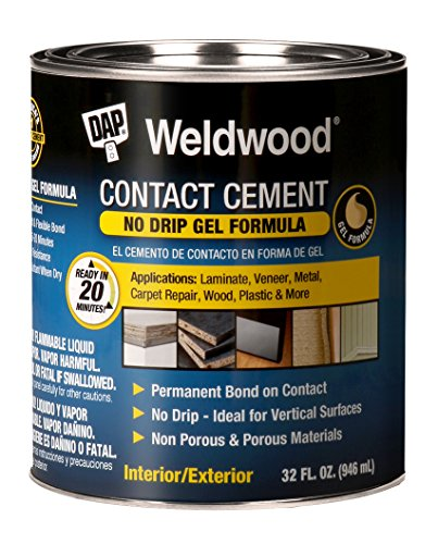Dap 25312 Weldwood Contact Cement Gel Formula 1-Quart