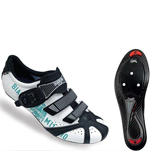 Bianchi Kraken + BM Ciclo Road Schuhe-weiss, EU 41