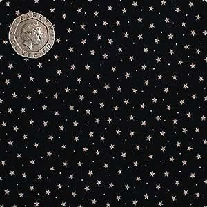 Color de la tela pequeña estrella media rhinocables 100% de algodón.