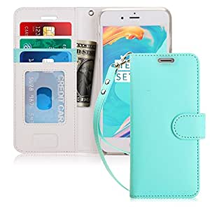 """FYY Case for iPhone 6S Plus/iPhone 6 Plus, [Kickstand Feature] Flip Folio Leather Wallet Case with ID and Credit Card Pockets for Apple iPhone 6/6S Plus (5.5"""") Mint Green"""
