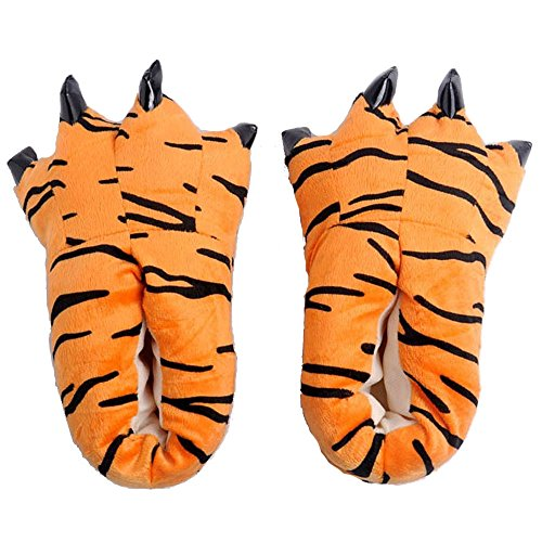 [Funny COWS, TIGER, GIRAFFE Animal Paw Slippers Cute Monster Claws Slipper Cartoon Warm Soft Plush Winter Indoor Shoes Cotton Padded Shoes] (Child Star Wars Costume Australia)