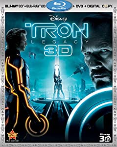 Cover Image for 'Tron: Legacy (Four-Disc Combo: Blu-ray 3D / Blu-ray / DVD / Digital Copy)'