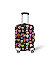 CHAQLIN Owl Travel Luggage Cover Elastic Suitcase Protector for 18/20/22/24/26/28/30 inch Case