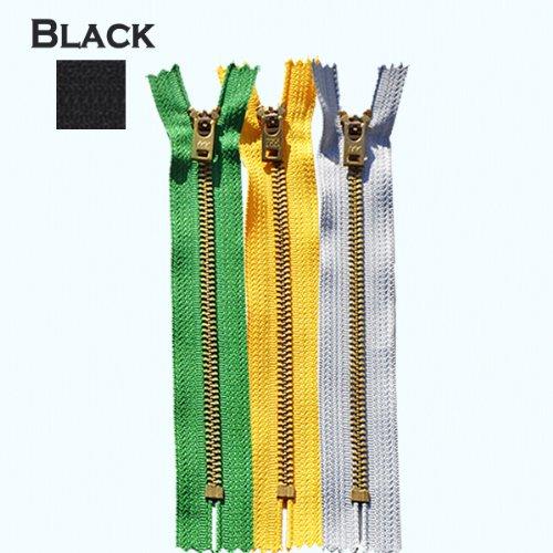 Brass Jeans Zipper 9in Black
