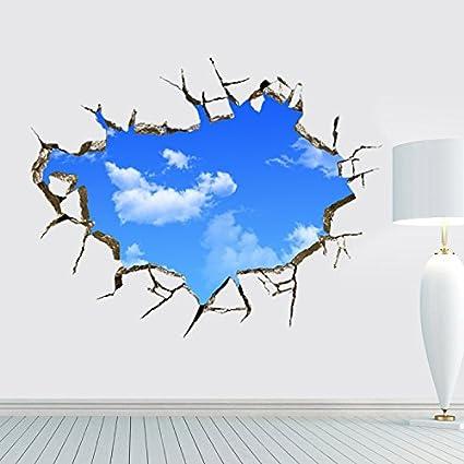 LifeUp 3D- Adesivi Murali Grandi Camera da Letto Soggiorno \
