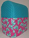 Penny's Needful Things Pink & Teal Butterflies Cover Compatible for Kitchenaid Stand Mixer (Aqua Blue, 4.5,5,6qt Lift Bowl)