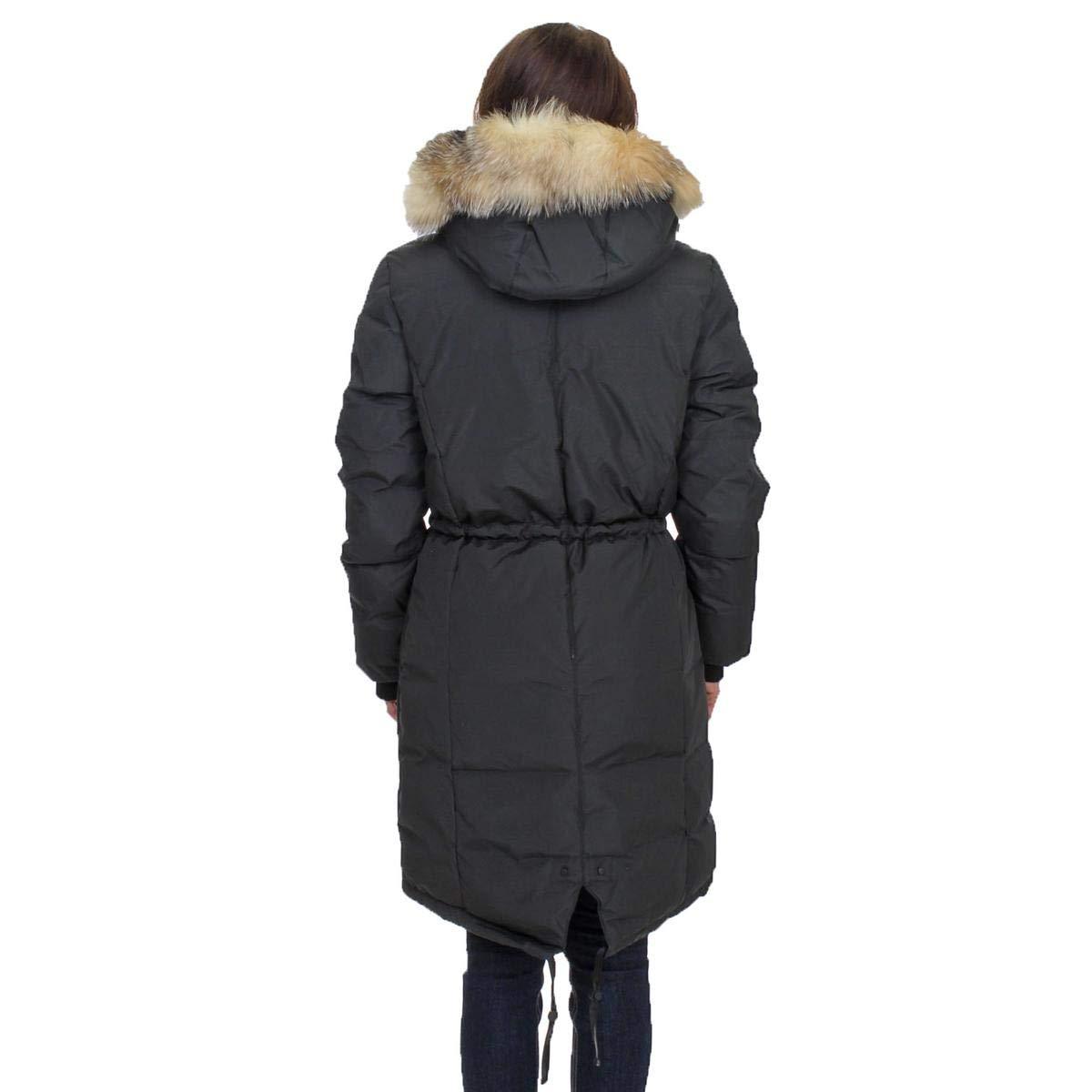 a17c309b553 Pajar Womens Nova Mid-Length Duck Down Fur Trim Parka Coat Black Size S at  Amazon Women's Coats Shop