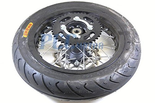 20L 12 Complete Motard Wheel Set 15MM BEARING SIZE w//rotor sprocket for DISC BRAKE PIT BIKES WMS03