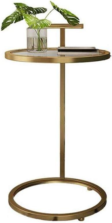 LYN - Mesas de sofá, Mesa de Metal y Cristal, Mesa de café para ...
