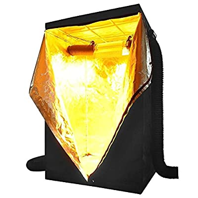 "Flexzion Grow Tent 48""x48""x78"" Reflective Mylar Hydroponics Hut Cabinet Room with Zipper and Window View For Indoor Plant Flower Vegetable Growing Gardening Greenhouse"