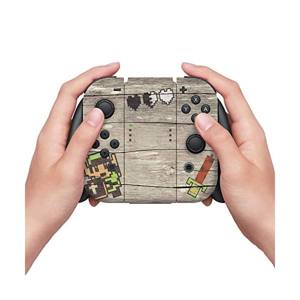 Controller Gear Officially Licensed Nintendo Switch Skin & Screen Protector Set - The Legend of Zelda - Retro Woodgrain… 3