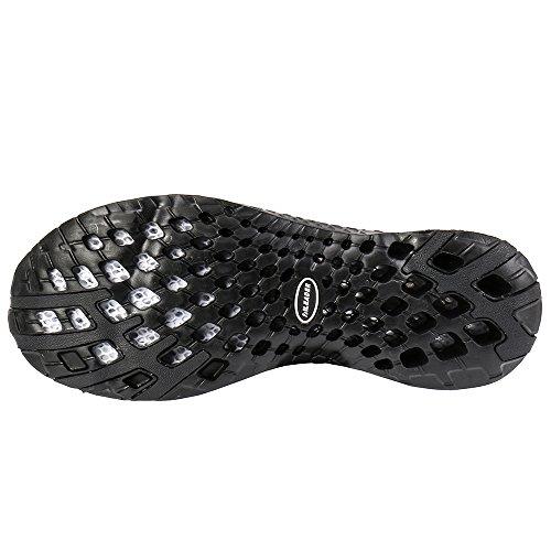 ALEADER Frauen Mesh Slip On Water Schuhe Schwarz 8521a