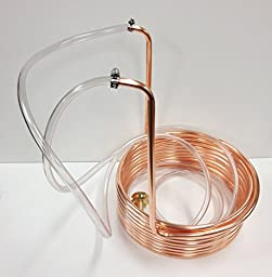 Quick Chill 3/8 Inch Copper Immersion Coil 25 Feet with Tubing