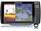 Tuff Protect Clear Screen Protectors for Humminbird Helix 12 Fish Finder