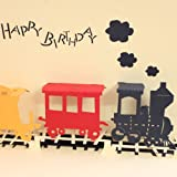 Papercraft Pop-Up 3D Retro Train Birthday Cards Happy Birthday