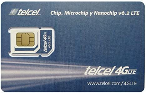 Telcel Mexico Prepaid SIM Card with 12GB Data and Unlimited Calls and SMS Universal SIM