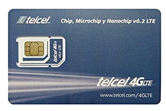 Telcel Mexico Prepaid SIM Card with 8GB Data and Unlimited Calls SMS Universal SIM