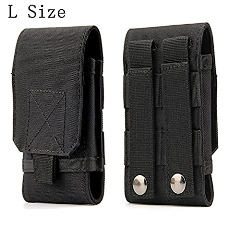 Tactical MOLLE Smartphone Holster, Universal Army Mobile Phone Belt Pouch EDC Security Pack Carry Accessory Kit Blowout Pouch Belt Loops Waist Bag Case For iPhone 6/6s 6plus Samsung Galaxy S7 S6 - Cell Phones Accessories