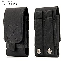 Universal Tactical MOLLE Holster Army Mobile Phone Belt Pouch EDC Security Pack Carry Accessory Kit Waist Bag Case…
