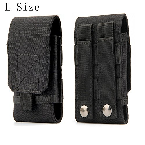 Tactical MOLLE Smartphone Holster, Universal Army Mobile Phone Belt Pouch EDC Security Pack Carry Accessory Kit Blowout Pouch Belt Loops Waist Bag Case For iPhone 6/6s 6plus Samsung Galaxy S7 S6 edge