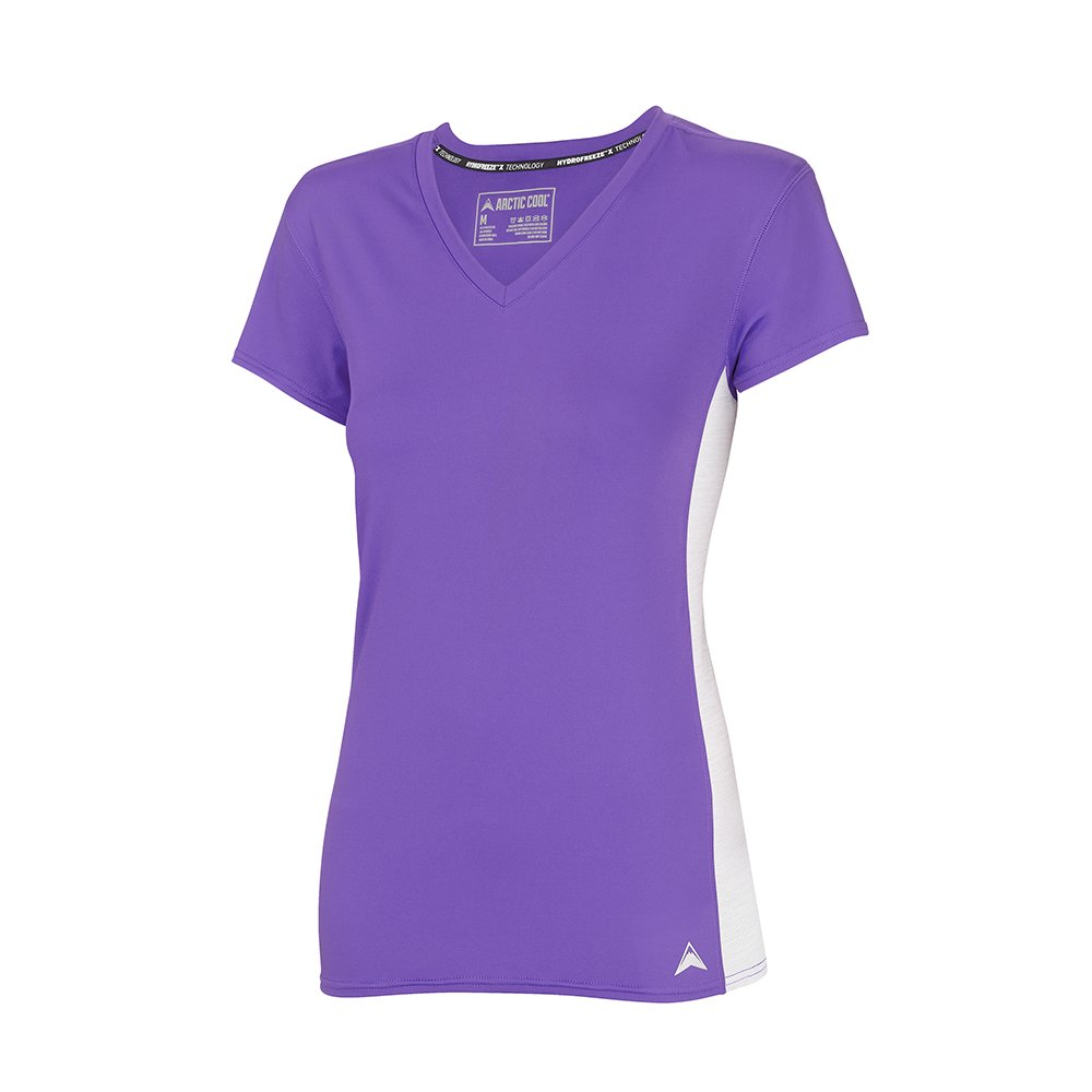 Arctic Cool Women's V-Neck Instant Cooling Shirt with Mesh Side Panels