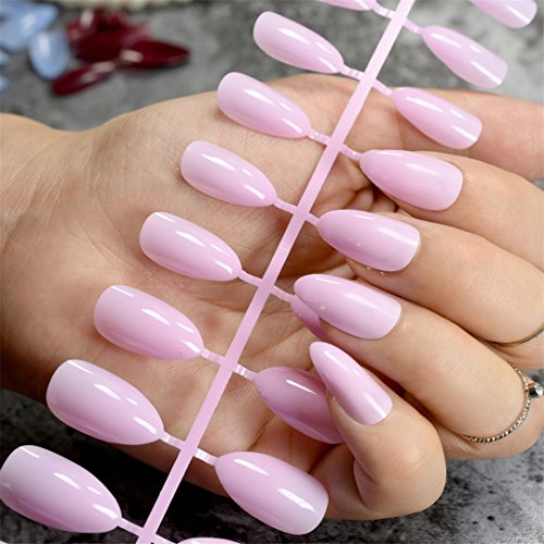 Dusty Cedar Fashion Stiletto False Nails Pointed Sharp Candy Red Fake Nails For Daily Wear On The Nail Tree 24Pcs 198P -