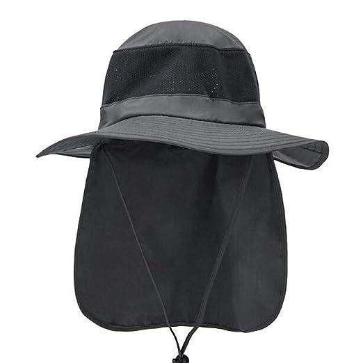 HUOFEIKE Gorra De Sol Unisex Redonda De ala Ancha, Sombreros ...