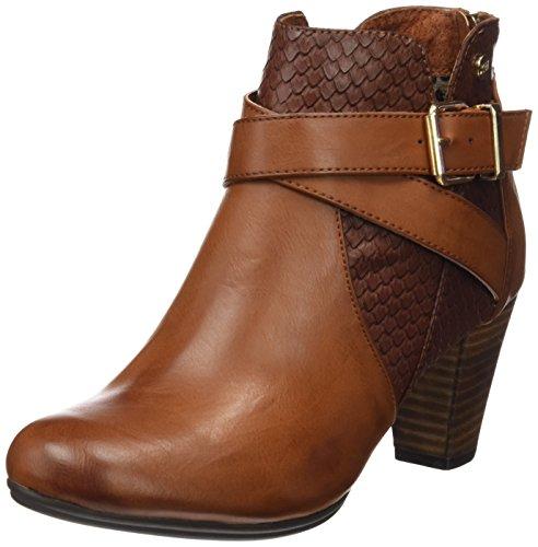 Xti Botin Sra C. 46197, Zapatos De Tacón, Mujer Marrón (Camel)