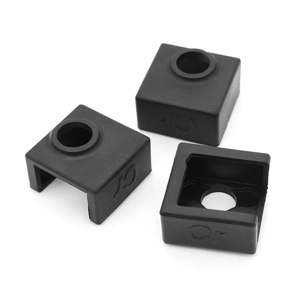 3Pcs Heater Block Silicone Cover for Ender-3 CR-10s Series Hensych Creality 3D 3Pcs 0.4mm Nozzle