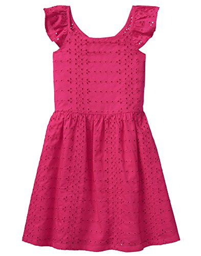 - Crazy 8 Girls' Little Eyelet Dress, Bright Rose, 12