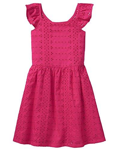 (Crazy 8 Girls' Little Eyelet Dress, Bright Rose, 12)
