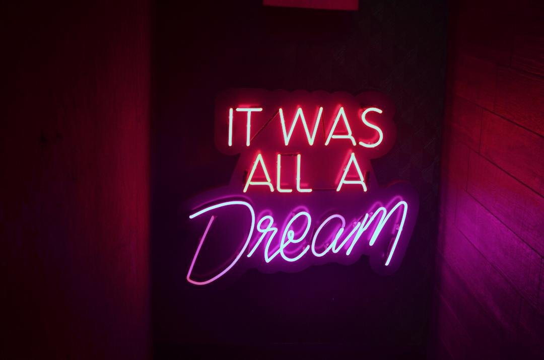 Desung Brand New 20'' IT WAS ALL A DREAM (Various sizes) CUSTOM Design Decorated Acrylic Panel Handmade Man Cave Neon Sign Light UT107 by DESUNG