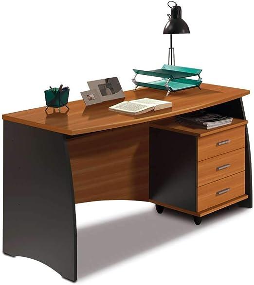 Habitdesign 0C4625Z - Mesa de despacho con cajonera, Acabado ...
