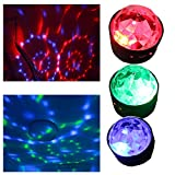 Portable Battery Type fun DJ lights for Christmas Party live band's show 3 W 3 colors Sound Activated profect accessory for Kids Birthday Dance Parties Lighting