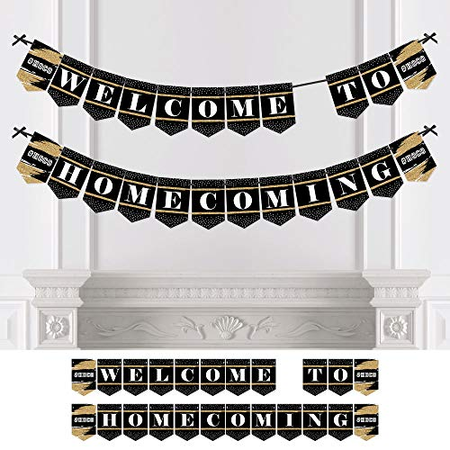 Big Dot of Happiness Personalized HOCO Dance - Custom Homecoming Bunting Banner & Decorations - Custom Homecoming Banner by Big Dot of Happiness