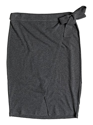 Roxy Junior's See You Goodbye Knit Skirt, Charcoal Heather, L