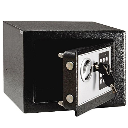 Giantex digital electronic small safe box keypad lock home for Small safe box for home