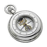 Gotham Men's Silver-Tone Mechanical Pocket Watch with Desktop Stand # GWC14053S-ST