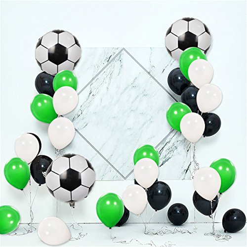 Theme Green - UTOPP 18 INCH Soccer Balloons Party Decoration, Sports Theme Football Party Balloons Decoration,Football Balloons with 12