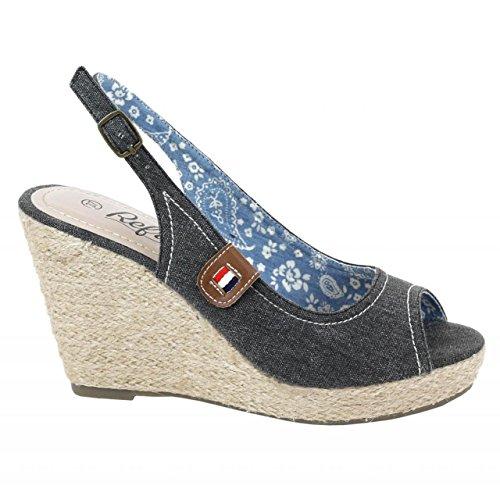 Zapatos de cuña de Mujer REFRESH 62037 JEANS NEGRO