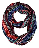 Peach Couture Scarves for Women Paisley Scarf Floral Scarf Bohemian Scarf Red Scarf Tribal Infinity Scarf Neon Coral