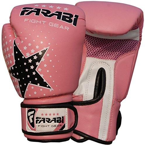 (Kids boxing gloves junior boxing gloves junior MMA Muay thai kickboxing and punching bag mitts 6 oz, Pink)