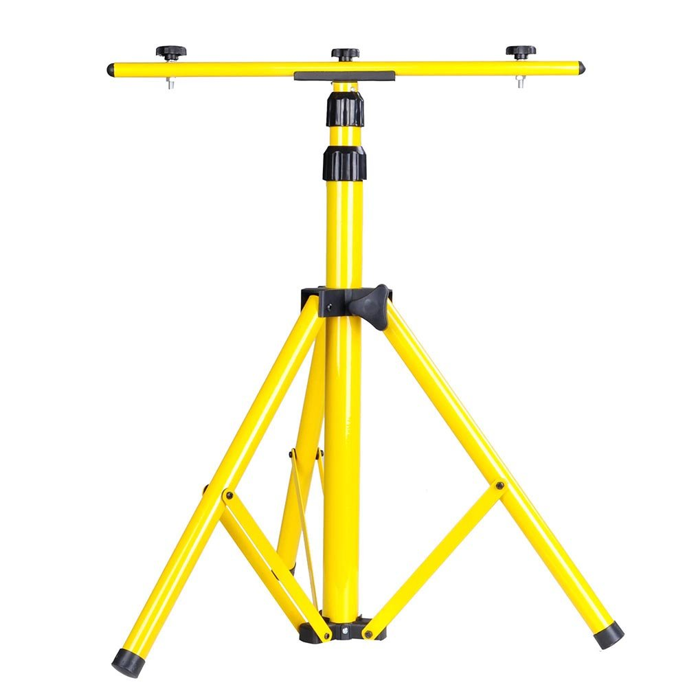 YesHom Adjustable Tripod Stand for LED Flood Light Telescoping Steel Floodlight Stand Camp Work Emergency Lamp