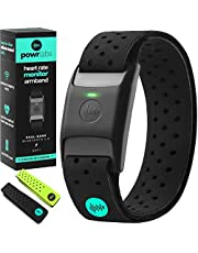 Powr Labs Bluetooth Heart Rate Monitor Armband   ANT Heart Rate Monitor Armband Heart Rate Monitor Bluetooth Wrist Heart Rate Monitor for Polar Wahoo Garmin Peloton Heart Rate Monitor Arm Band Rhythm