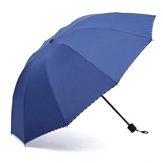 JUNDY Paraguas Plegable a Prueba de Viento de la protección ...