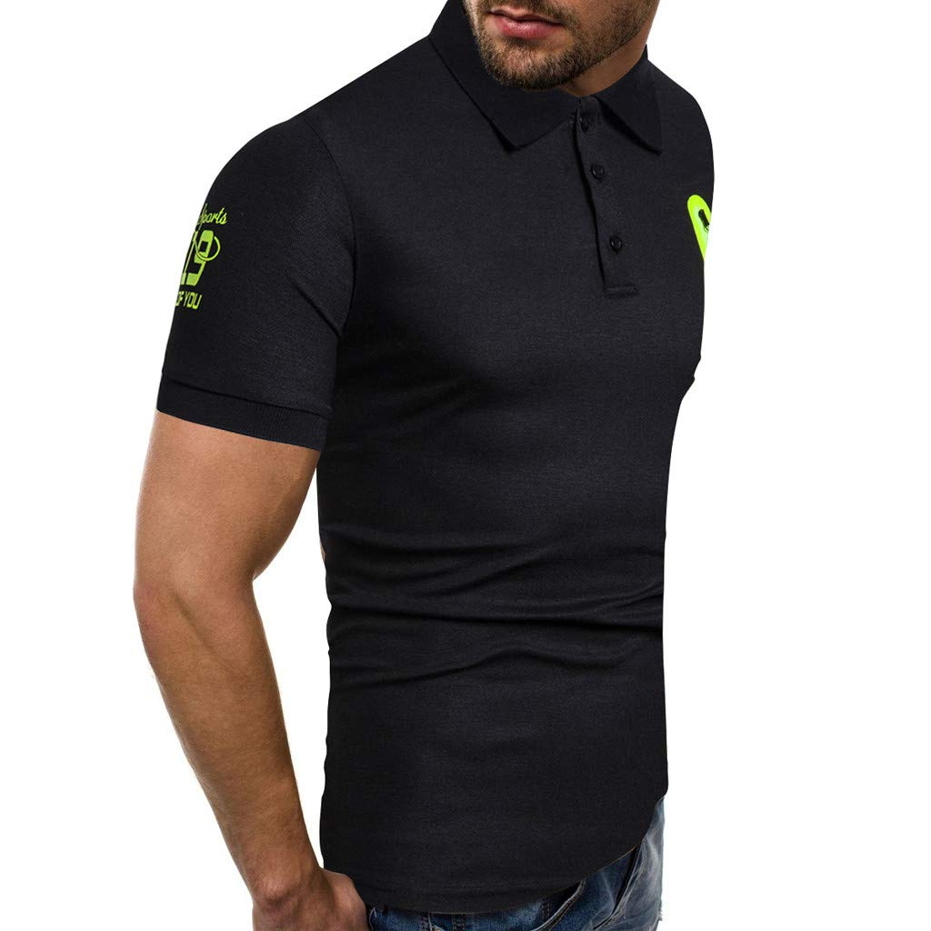 STORTO Mens Zipper Polo Shirts Solid Lapel Short Sleeve Casual Fashion Workout Fit Soft Tops