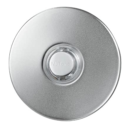 Charming NuTone PB41LSN Wired Lighted Round Stucco Door Chime Push Button, Satin  Nickel