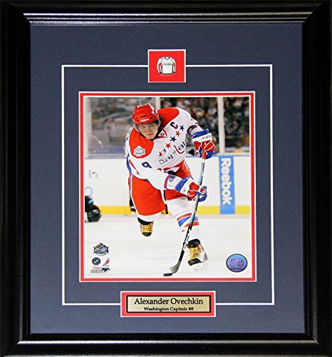 Midway Memorabilia Alexander Ovechkin Washington Capitals Winter Classic 8x10 NHL Hockey Frame