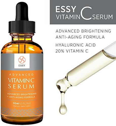 Advanced vitamin C serum with natural Antioxidant for fine lines and wrinkles Firm and Youthful formula by Essy